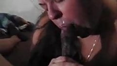 Fat wife Loves suck big black cock