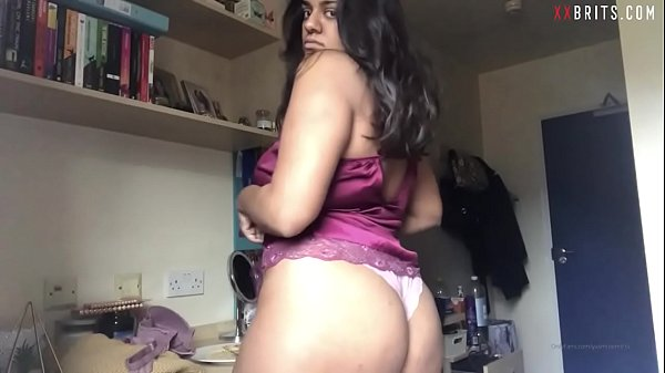British Paki Teen from Midlands Striptease